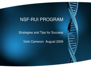 NSF-RUI PROGRAM