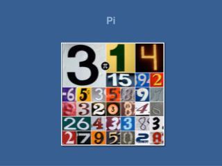 Pi er sannsynlegvis det mest ber mte talet i verda. Dei fleste av oss kjenner talet som 3,14. Talet sitt symbol er den g
