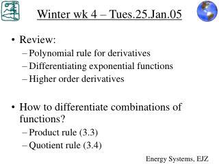 Winter wk 4 – Tues.25.Jan.05