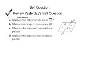 Bell Question: