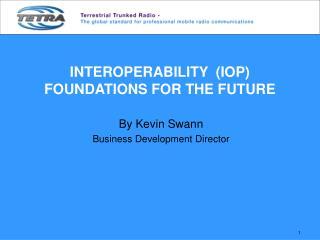 INTEROPERABILITY  (IOP) FOUNDATIONS FOR THE FUTURE