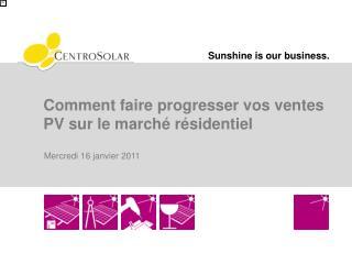 Comment faire progresser vos ventes PV sur le marché résidentiel