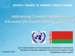 Addressing Climate Change through Education for Sustainable Development