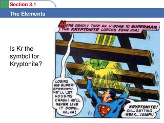 Is Kr the symbol for Kryptonite?