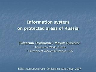 Information system on protected areas of Russia