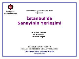 İstanbul'da Sanayinin Yerleşimi