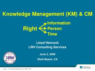 Knowledge Management (KM) & CM