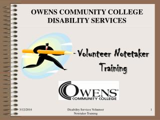 OWENS COMMUNITY COLLEGE DISABILITY SERVICES