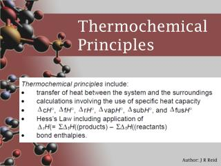 Thermochemical Principles