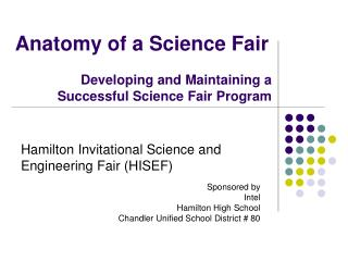 Hamilton Invitational Science and Engineering Fair (HISEF)