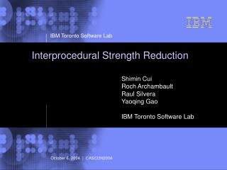 Interprocedural Strength Reduction