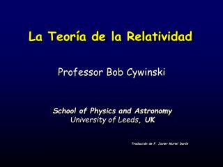 La Teor a de la Relatividad
