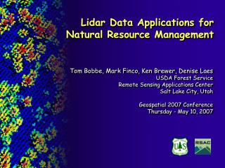 Lidar Data Applications for Natural Resource Management