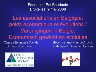 Les associations en Belgique: poids économique et évolutions / Verenigingen in België: