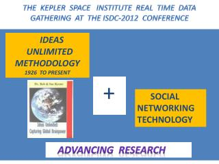 THE  KEPLER  SPACE   INSTITUTE  REAL  TIME  DATA  GATHERING  AT  THE ISDC-2012  CONFERENCE