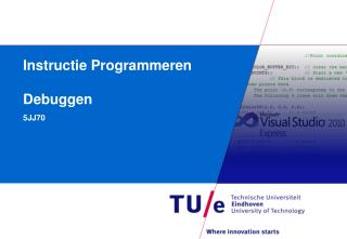 Instructie  Programmeren Debuggen