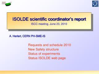 A.  Herlert , CERN PH-SME-IS