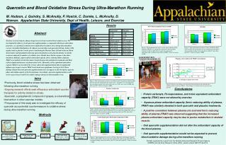 Quercetin and Blood Oxidative Stress During Ultra-Marathon Running