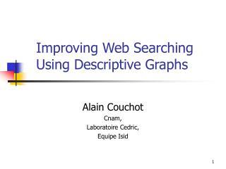 Improving Web Searching Using Descriptive Graphs