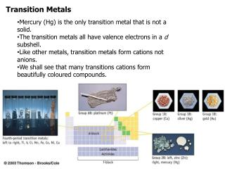 Transition Metals