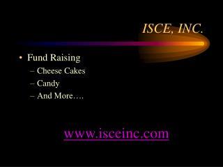 ISCE, INC.