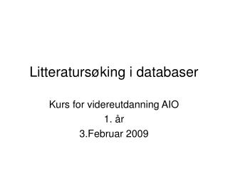 Litteraturs king i databaser