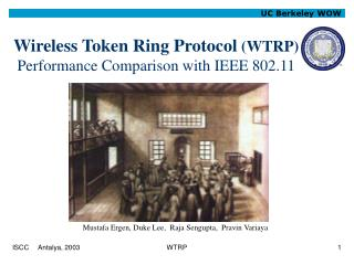 Wireless Token Ring Protocol  (WTRP) Performance Comparison with IEEE 802.11