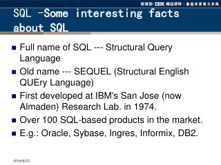 SQL - Some interesting facts about SQL