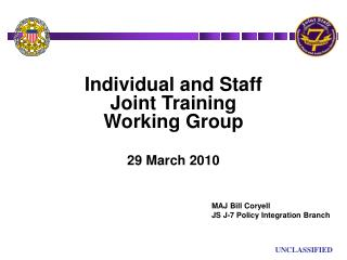 Individual and Staff                     Joint Training                     Working Group