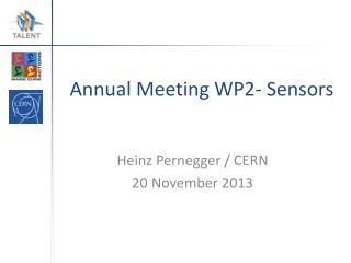 Annual Meeting WP2- Sensors