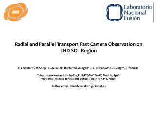 Radial and Parallel Transport Fast Camera Observation on LHD SOL Region