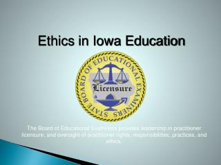 Ethics in Iowa Education
