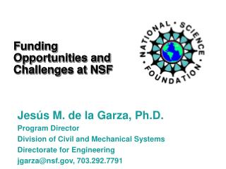 Funding Opportunities and Challenges at NSF