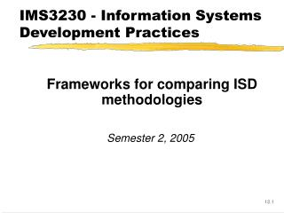 IMS3230 - Information Systems Development Practices