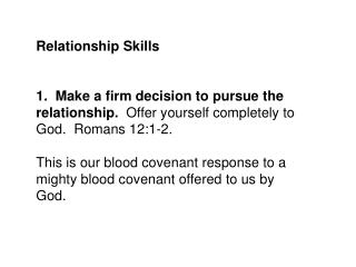Relationship Skills