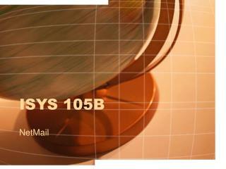 ISYS 105B