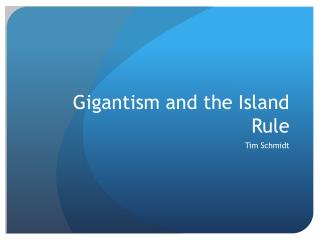 Gigantism and the Island Rule