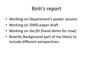 Binh's  report