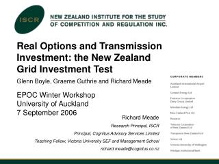 Real Options and Transmission Investment: the New Zealand Grid Investment Test