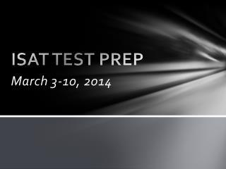 ISAT TEST PREP