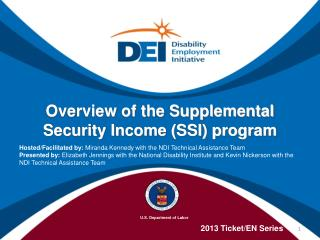 Overview of the Supplemental Security Income (SSI) program
