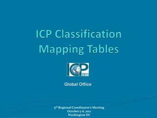 ICP Classification  Mapping Tables