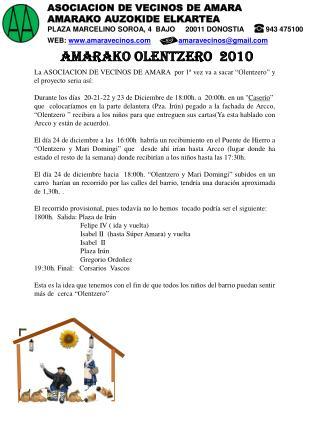ASOCIACION DE VECINOS DE AMARA AMARAKO AUZOKIDE ELKARTEA