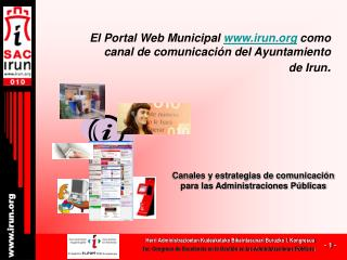 El Portal Web Municipal  irun  como canal de comunicación del Ayuntamiento de Irun .