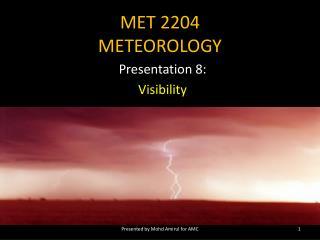 MET 2204 METEOROLOGY