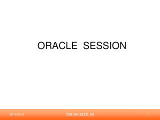 ORACLE  SESSION