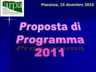 Proposta di Programma 2011