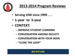 2013-2014 Program Reviews