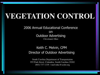2006 Annual Educational Conference  on  Outdoor Advertising  Cleveland, Ohio