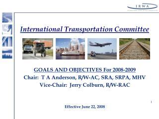 I nternational Transportation Committee